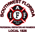 SWFL firefighter logo local 1826