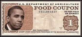 food stamp coupon with obama image