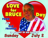 Love for Bruce Day, Celebrate with a Luau and a Harry Chappin Food Drive