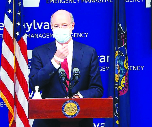 Pennsylvania Gov. Tom Wolf speaks Nov. 23, 2020, during a news conference about the ongoing COVID-19 crisis.