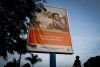 A billboard on the outskirts of Kampala, Uganda, urges people to be faithful to their partners to stop the spread of HIV