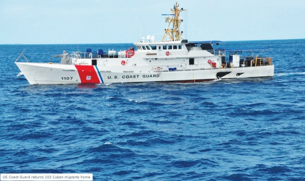 Coast Guard Repatriates 103 Cuban Migrants Flow Continue Unabated