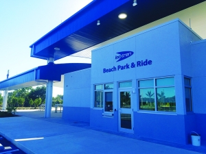 Beach Park n Ride Ribbon Cutting Ceremony Monday