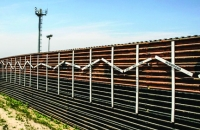 A section of existing wall along the U.S.-Mexico border.