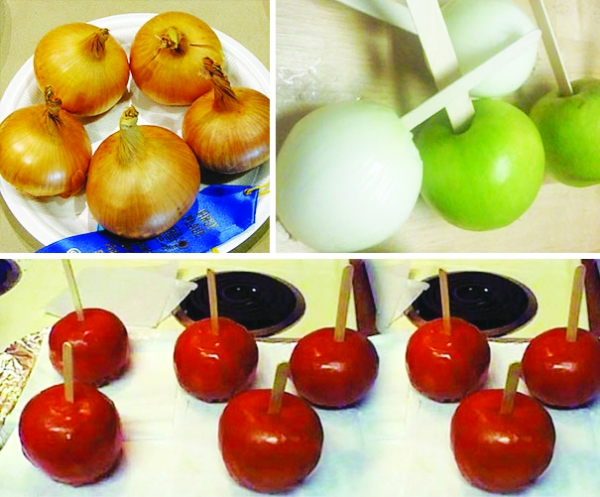 Great April Fools prank, put a few onions in with the candied apples