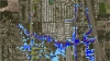 A computer model shows how neighborhoods near the Imperial River in  Bonita Springs that are regularly prone to flooding.