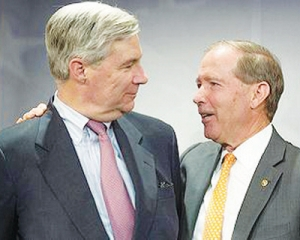 U.S. Senators David Vitter, left, and Tom Udall, (Photo courtesy Senate Democrats)