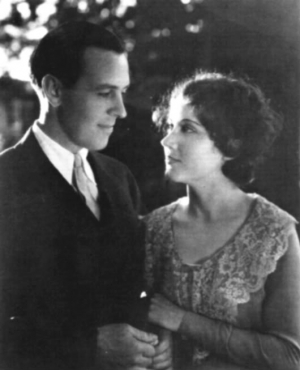 John Monk Saunders and Fay Wray on their wedding day in 1928