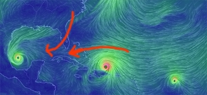 IRMA: Wind Shifts Every Few Hours: New Pattern Taking Storm Westerly